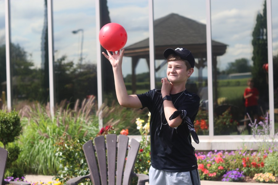Braden Grealy, 13, said he enjoyed coming to a unicorn party and a space party hosted by NOTL library over the summer. (Dariya Baiguzhiyeva/Niagara Now)