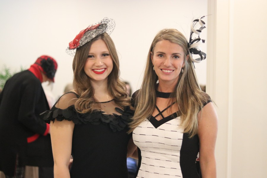 Bella Grace Boutique manager Dakota Stevenson and owner Joy Kassai-Molon at the fall fashion show Sunday. (Dariya Baiguzhiyeva/Niagara Now)