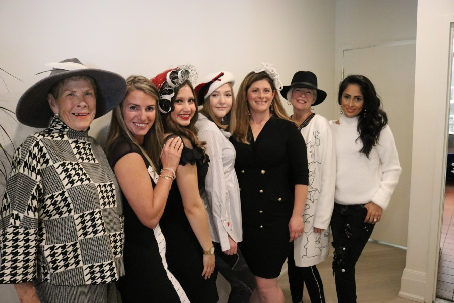 Model Ann Cosford, Bella Grace Boutique owner Joy Kassai-Molon, manager Dakota Stevenson, and models Frida Nielsen, Hollie Rowell, Jeannie Manning and Sue Lee. (Dariya Baiguzhiyeva/Niagara Now)