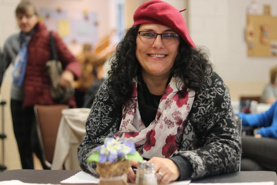 Shanty Bay resident Emese Borbely stopped by at the bazaar after dropping her husband off at a workshop in NOTL. (Dariya Baiguzhiyeva/Niagara Now)