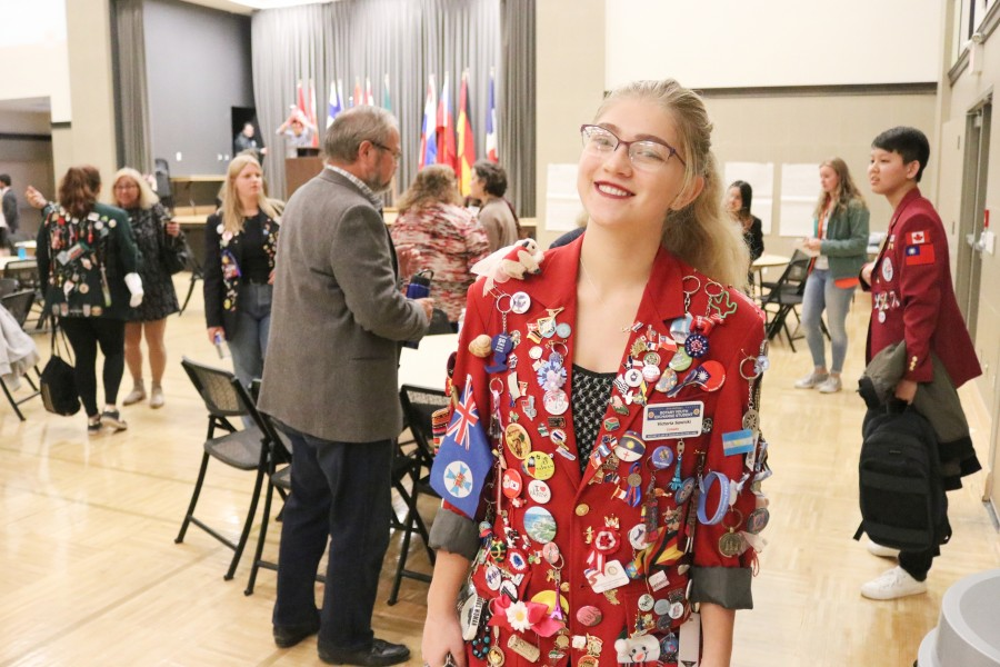 Governor Simcoe Secondary School student Victoria Sawicki studied in France last year as part of the rotary youth exchange program. (Dariya Baiguzhiyeva/Niagara Now)