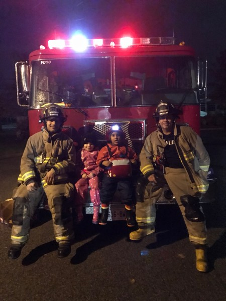 Firefighters from Glendale fire station handed out candies in Niagara on the Green. (Supplied)