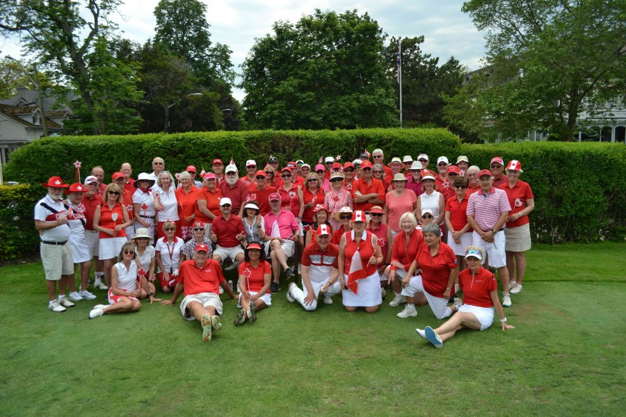 Canada Day celebration for NOTL Golf Club's Friday Couples league. (Kevin MacLean/Niagara Now)