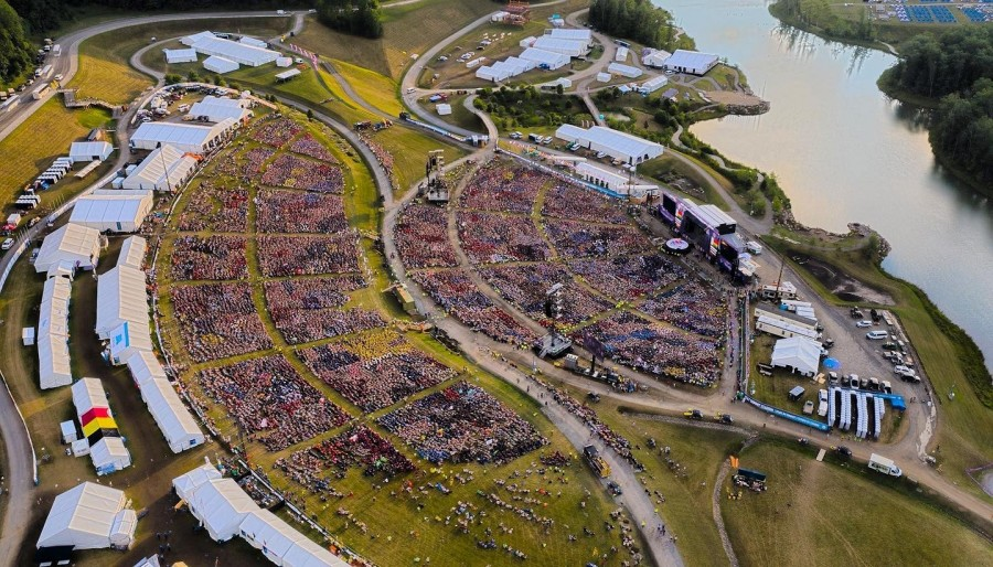 World Scout Jamboree drone photo of crowd. (Supplied)