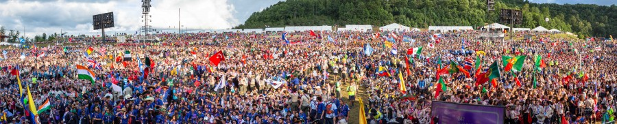 World Scout Jamboree panorama photo of crowd. (Supplied)
