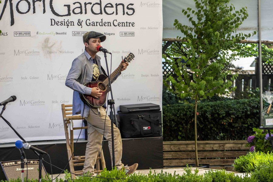 The Lake Report's editor Richard Harley during the anniversary of Mori Gardens last Saturday. (Jessica Maxwell/Special)